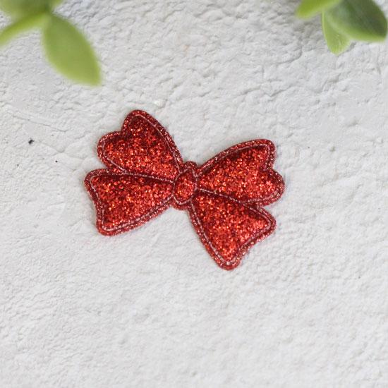 Кукольный аксессуар - Патч Бантик красный 3,3*2,3 см., 1шт