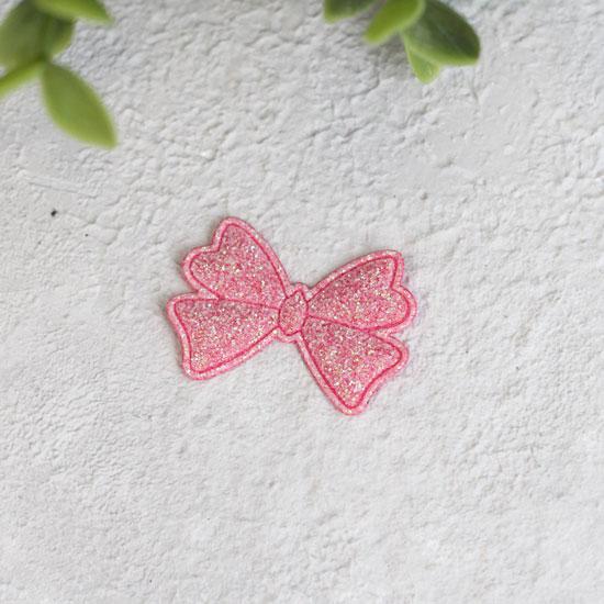 Кукольный аксессуар - Патч Бантик розовый 3,3*2,3 см., 1шт