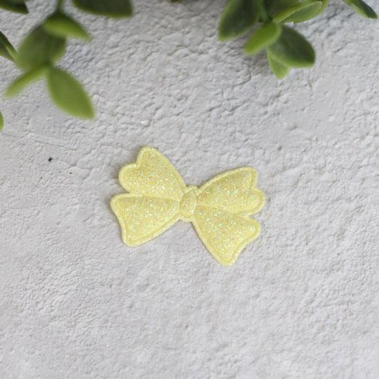 Кукольный аксессуар - Патч Бантик лимонный 3,3*2,3 см., 1шт