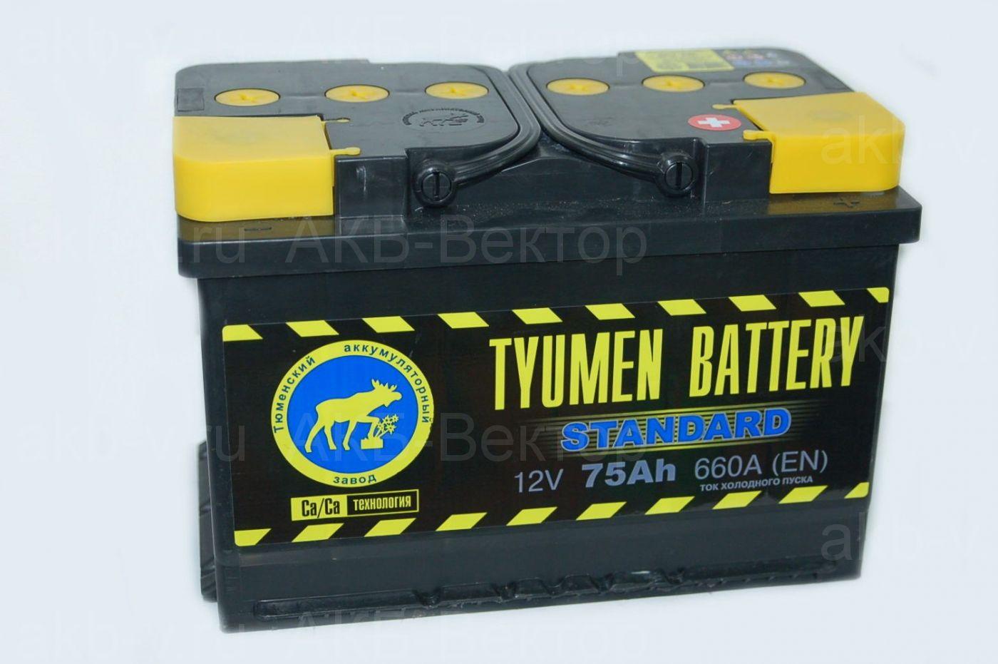 Tyumen Standart  75Ач 660А(EN)