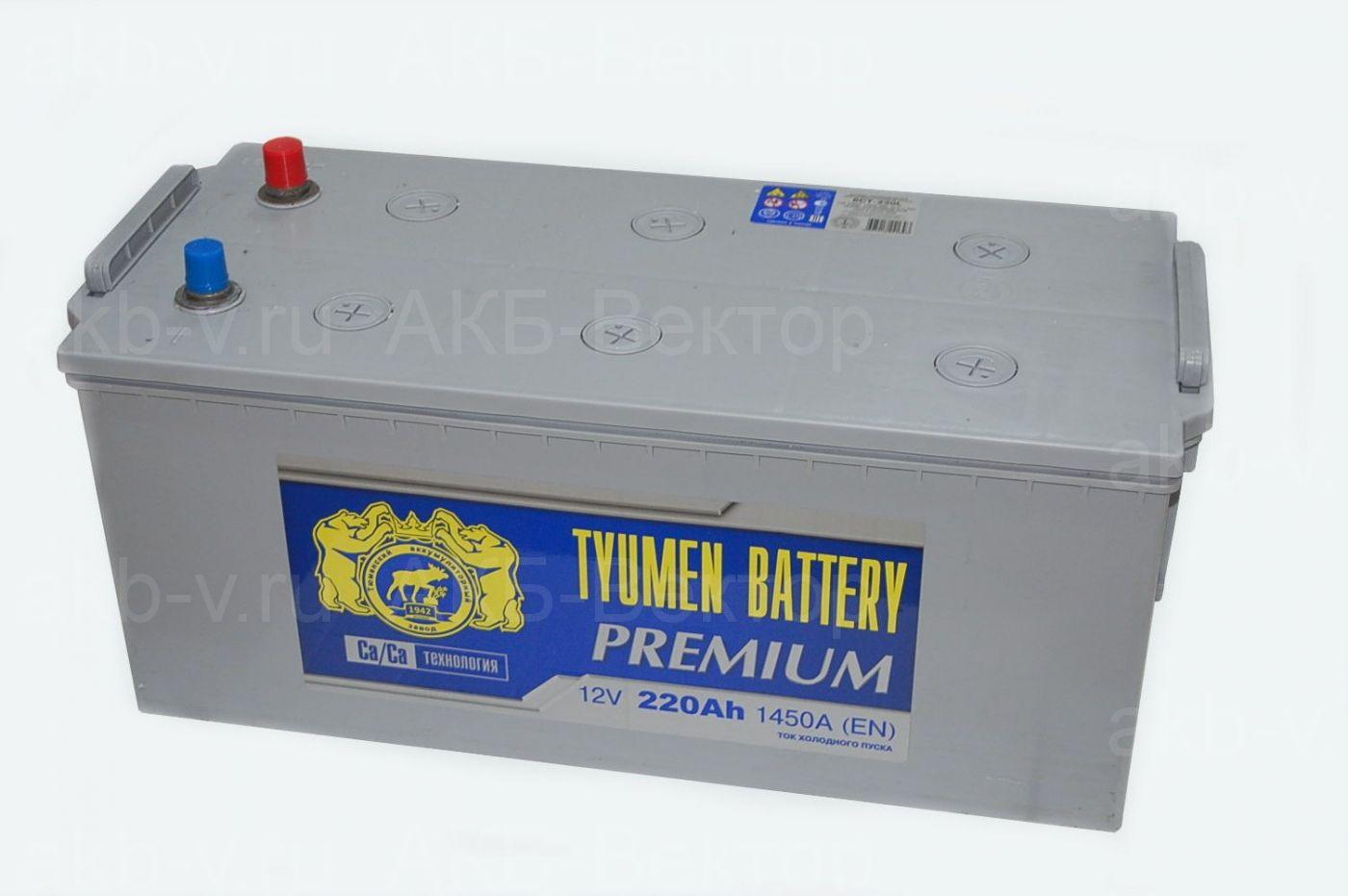 Tyumen Premium 220Ач 1450А(EN)