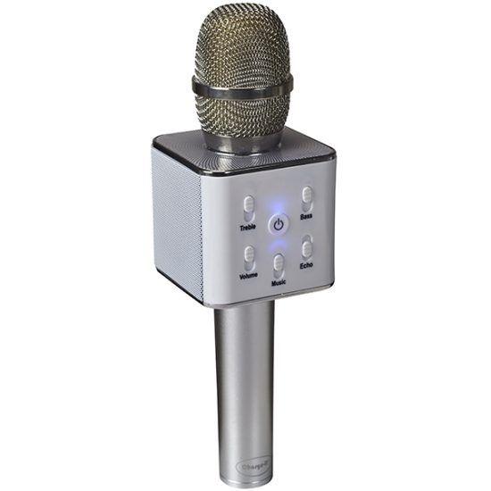 Беспроводной караоке микрофон Q7, серебристый