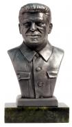 И.В. Сталин, (олово) 80мм на подставке(змеевик) + подарочная упаковка