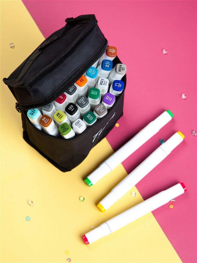 Фломастеры маркеры двусторонние для скетчинга Touch Cool 48 цветов