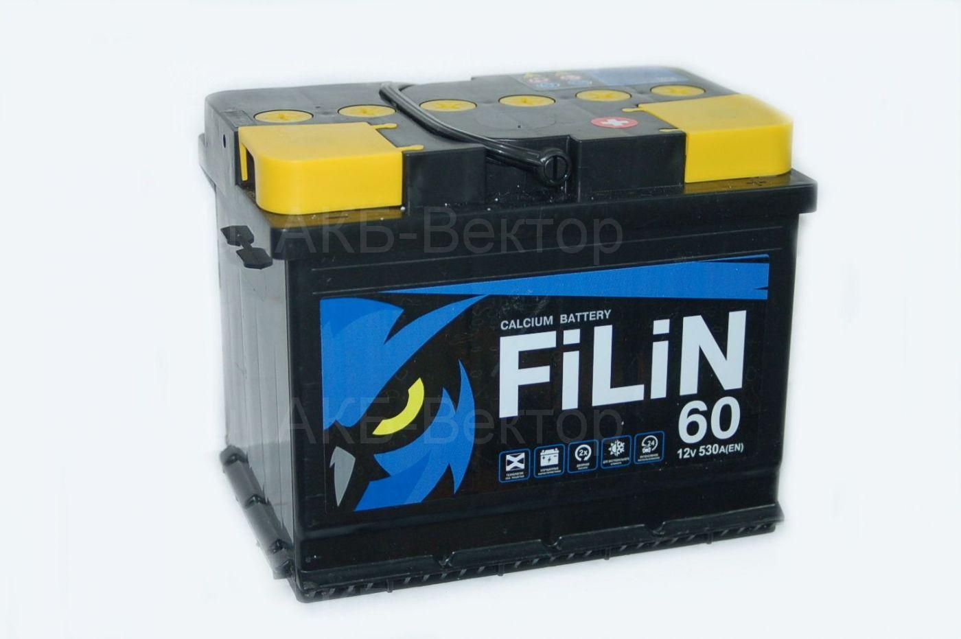 Filin 60Ач 530A(EN) Тюменский аккумуляторный завод