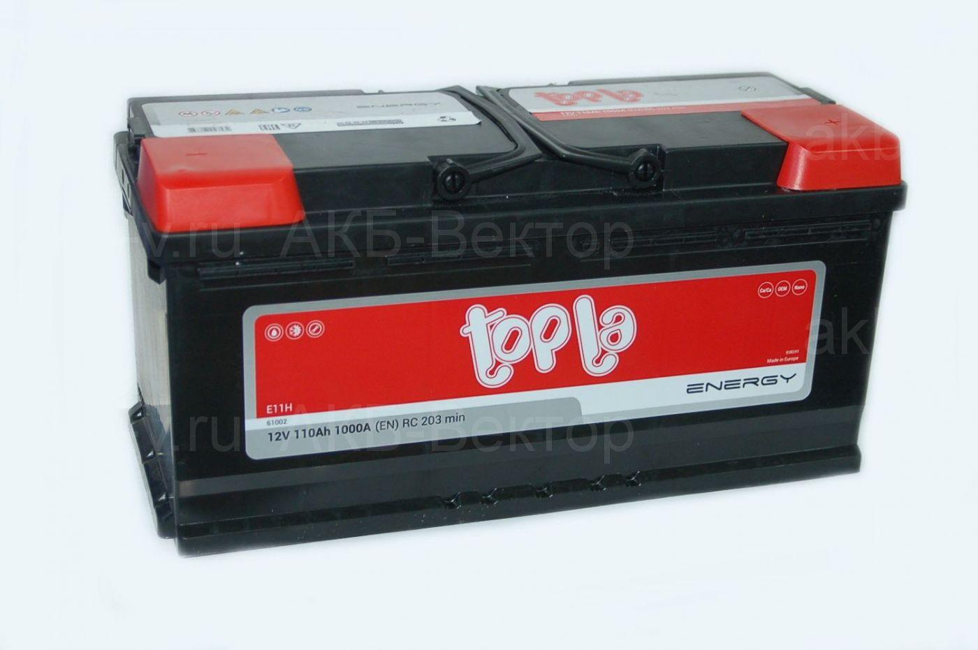 Topla Energy 110Ач 1000А(EN) (108210)