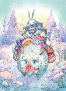 Верхом на снежном кабане