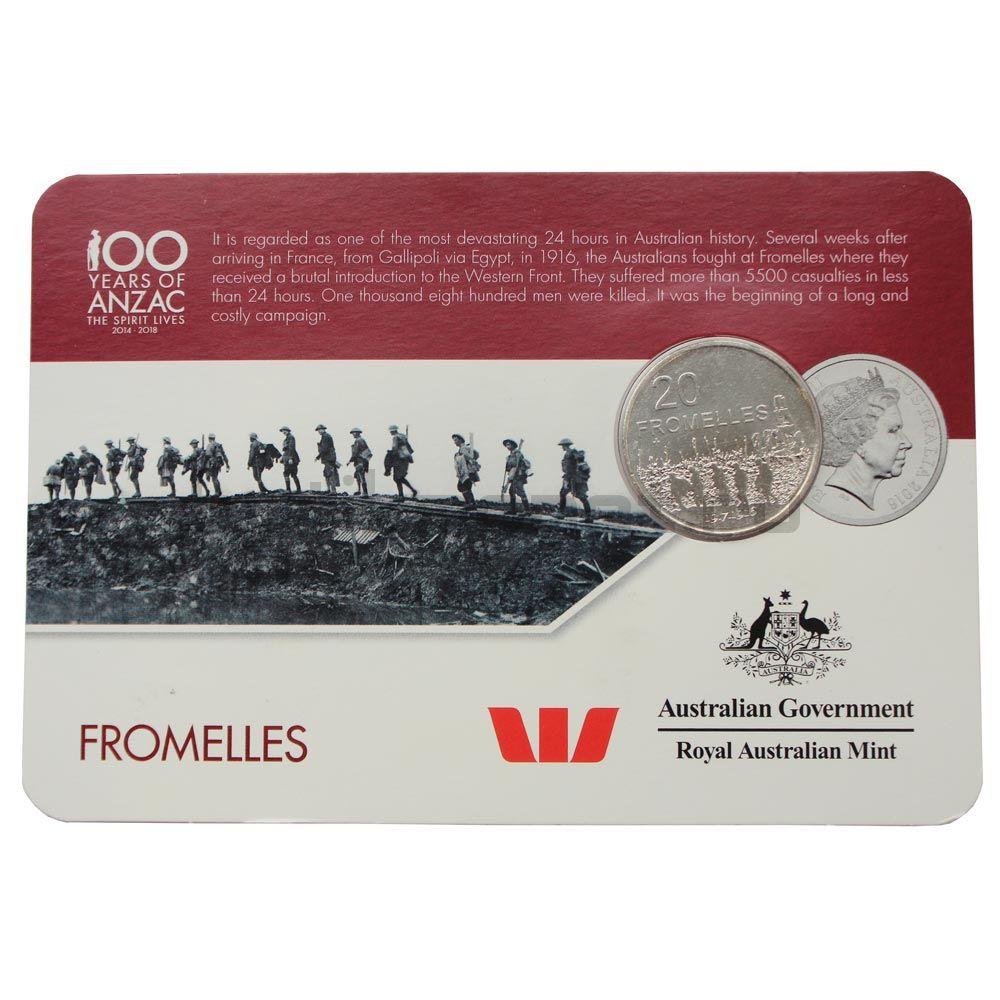20 центов 2016 Австралия Фромель (От АНЗАК до Афганистана)