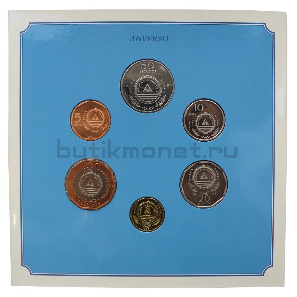 Набор монет 1994 Кабо-Верде Птицы (6 штук)