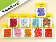 Декоративные цветы для украшения подарков, 12 шт в пакете, размер пакета 10х14 см (арт. S 1067)