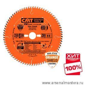 CMT 273.250.80M Пила торцовочная с тонким пропилом (пильный диск) 250x30x2,4/1,6 12гр 10гр ATB  8гр SHEAR Z80  универсальный ХИТ!