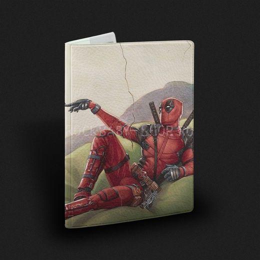 Обложка на паспорт  Дэдпул Deadpool