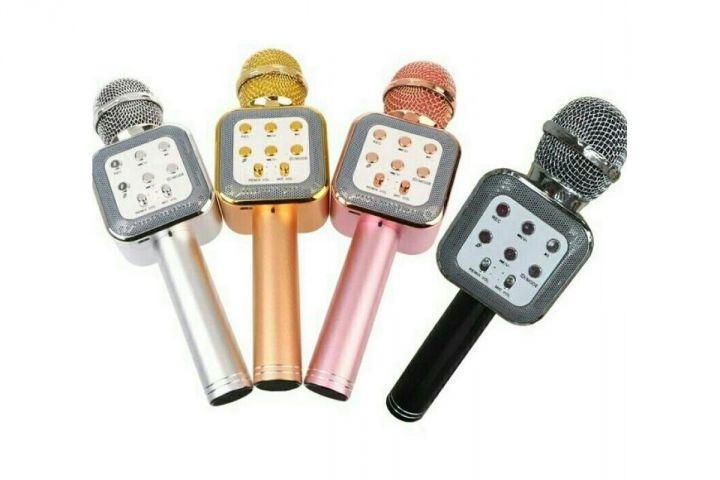 Беспроводной караоке микрофон с динамиком WS-1818