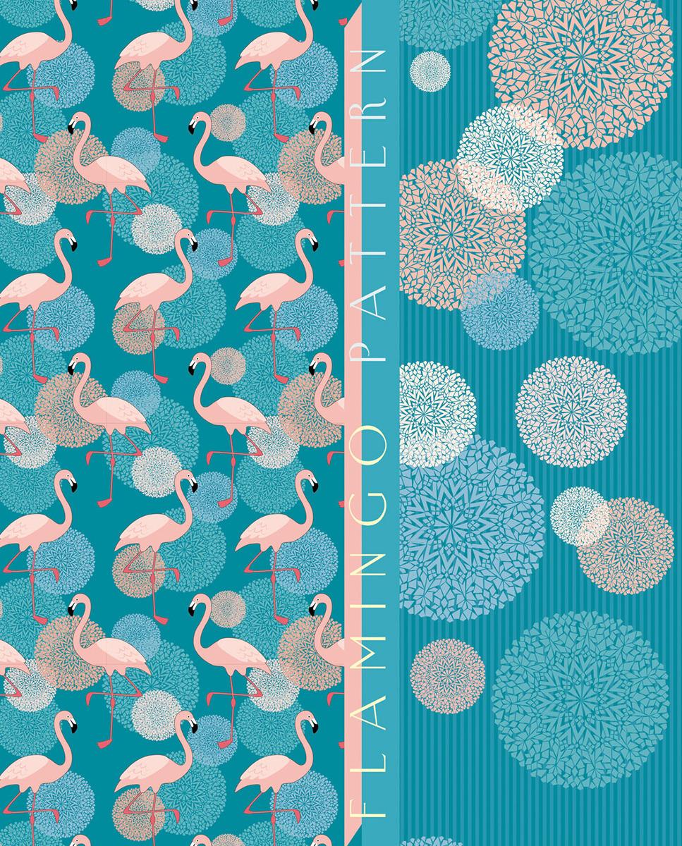 """Тетрадь на кольцах Апплика """"Фламинго"""", цвет: разноцветный, A5, 120 листов в клетку"""