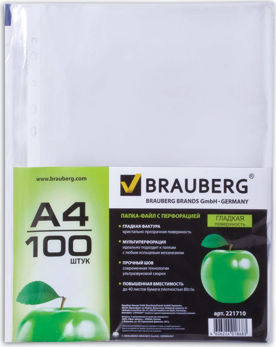 Brauberg Набор файлов Яблоко 100 шт