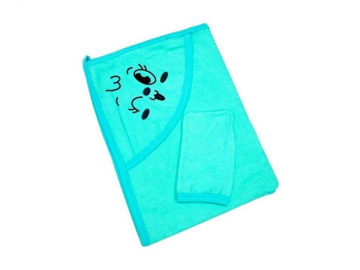 Полотенце для купания Мамин Малыш 01889-3, бирюзовый