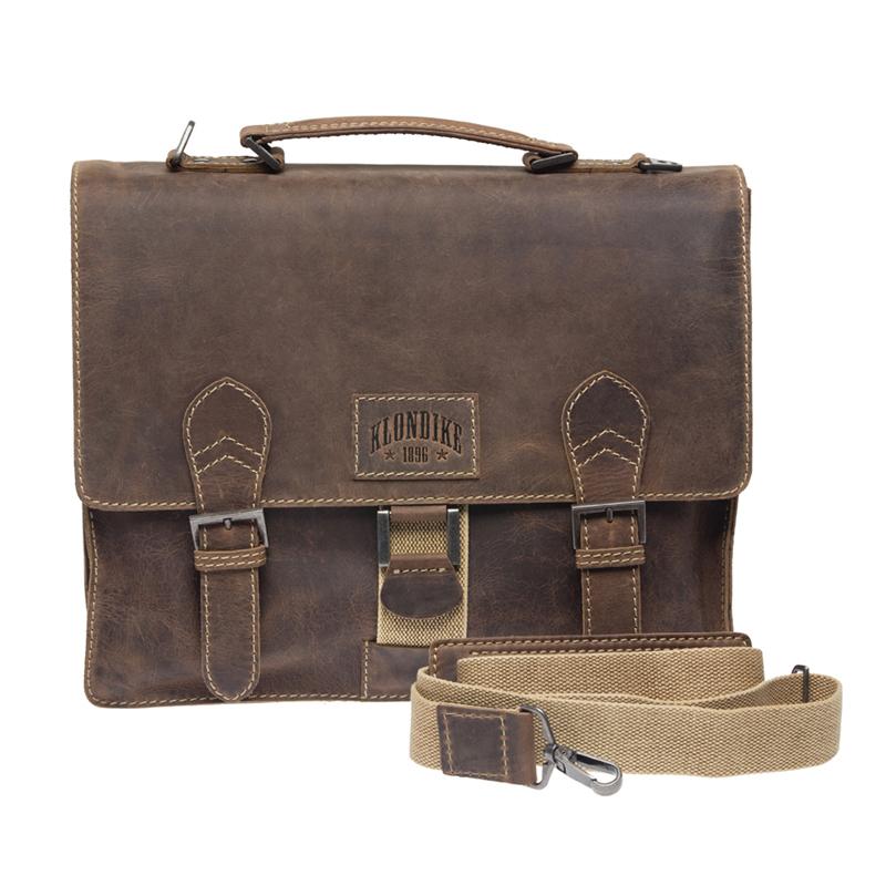 Кожаный мужской портфель Klondike Native, коричневый