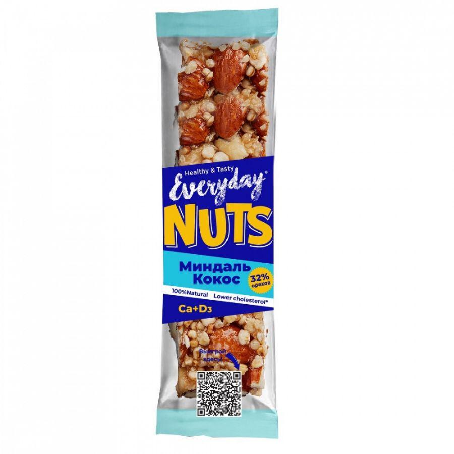 EVERYDAY NUTS Батончик ореховый МИНДАЛЬ КОКОС 40г