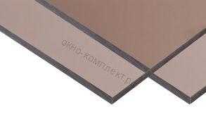 "Монолитный поликарбонат ""Карбогласс"" 6мм.Цвет: бронзовый,молочный.Размер: 2,05*3,05м"