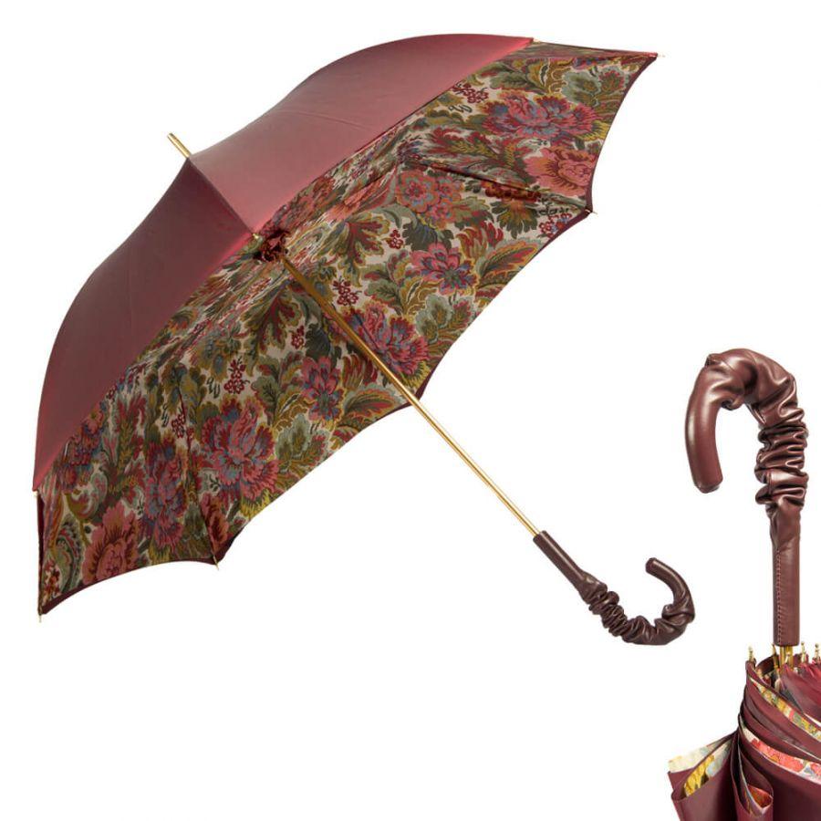 Зонт-трость Pasotti Bordo Motivi Pelle