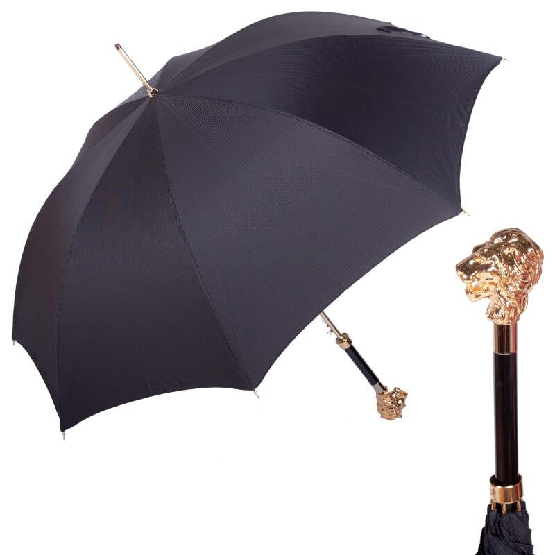 Зонт-трость Pasotti Leone Gold StripesS Black