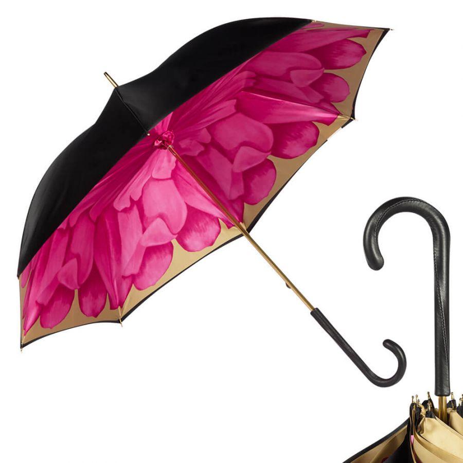 Зонт-трость Pasotti Nero Georgin Rosa Original