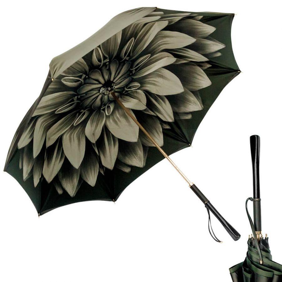 Зонт-трость Pasotti Oliva Georgin Diritto Pelle