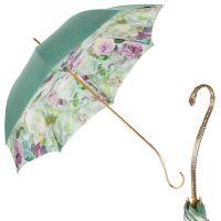 Зонт-трость Pasotti Verde Camelia Oro Dentel