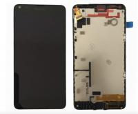 LCD (Дисплей) Microsoft Lumia 550 (в сборе с тачскрином) (в раме) Оригинал