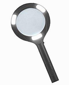 Лупа ручная круглая 3х-80мм с подсветкой