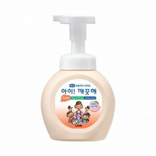 613374 LION Пенное мыло для рук с персиком Ai kekute foaming handsoap peach 250ml bottle (Moisturising)