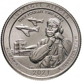 Национальное историческое место «Пилоты из Таскиги» Алабама  25 центов США 2020 Двор Р