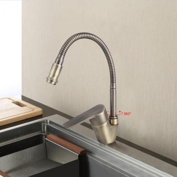 Смеситель для кухни с гибким изливом Frap H30-4 F4330–4