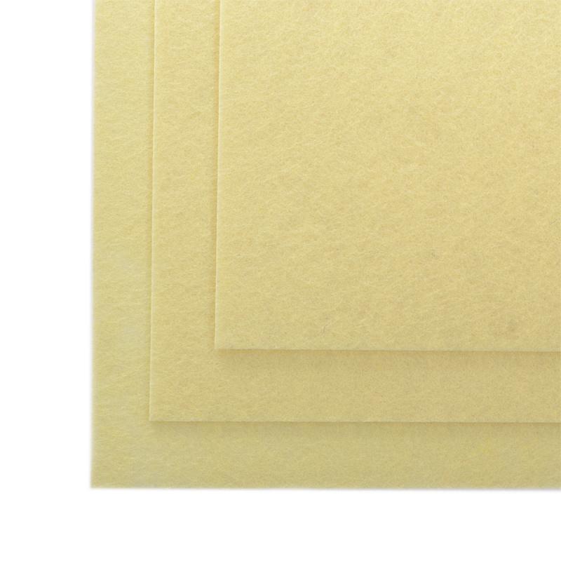 фото Фетр 1 мм лист 20 х 30 см, полужесткий TBY.FLT-HS1.075 топленое молоко