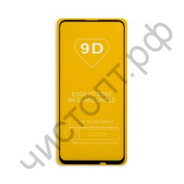 Защитное стекло Huawei P Smart Z/ Y9 Prime (2019)  с рамкой 9H Full Glue без упаковки черное