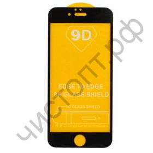 Защитное стекло IPh 6 Full Glue с рамкой 2.5D черное