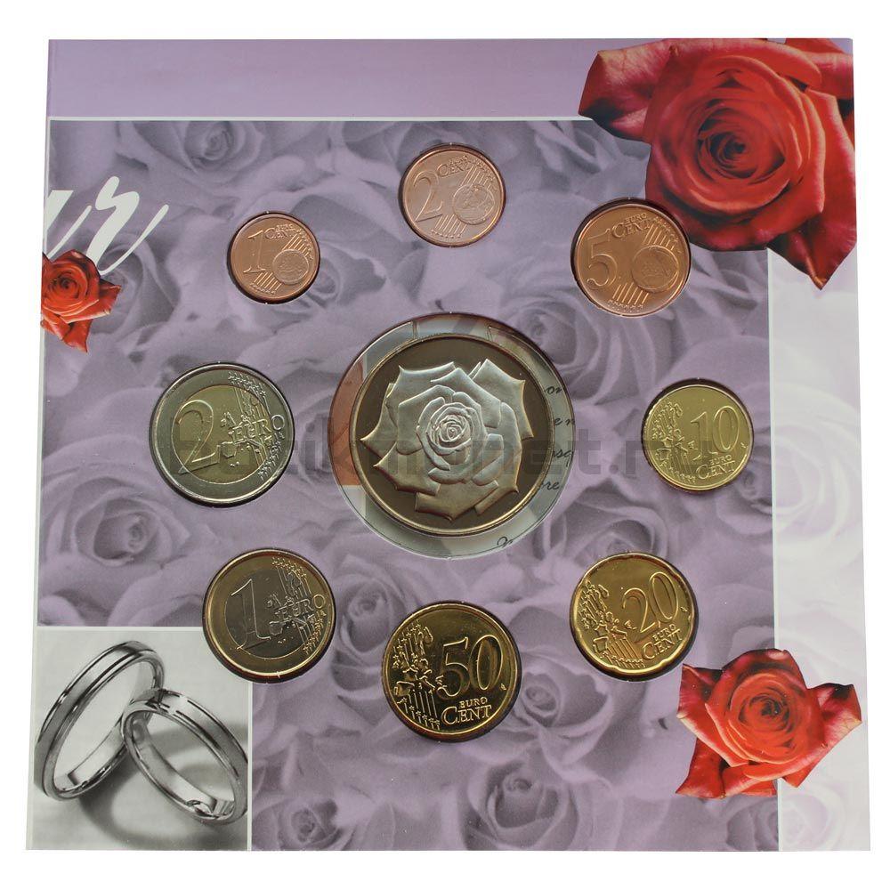 Годовой набор монет ЕВРО 2003 Бельгия Свадьба (8 штук и жетон)