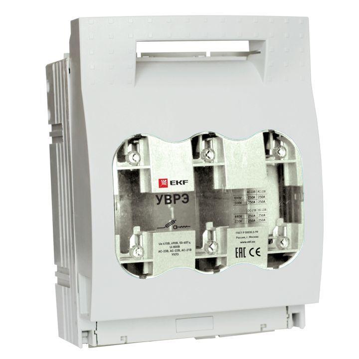 EKF Выключатель-разъединитель УВРЭ 250А откидного типа под предохранители ППН (габ.1)  uvre-250