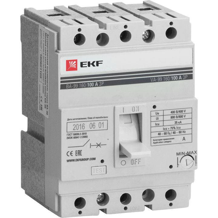 EKF Автоматический выключатель ВА-99 160/160А 3P 35кА  mccb99-160-160