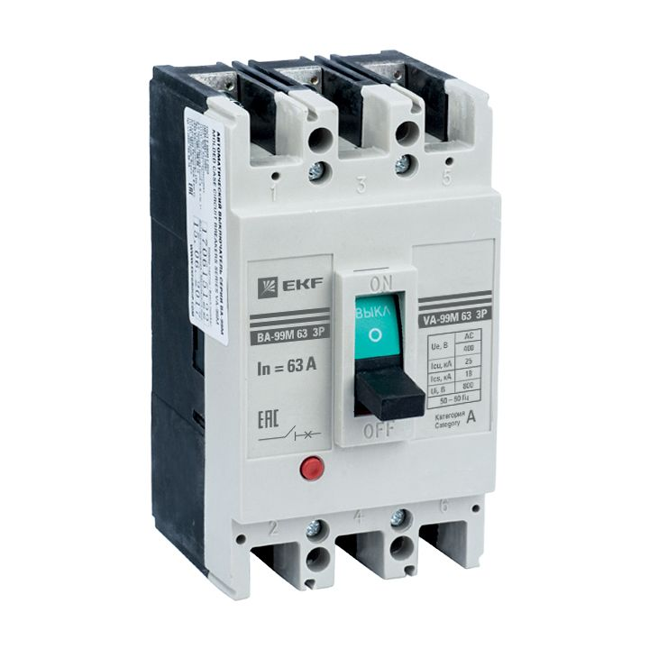 EKF Автоматический выключатель ВА-99М 63/63А 3P 20кА  mccb99-63-63m