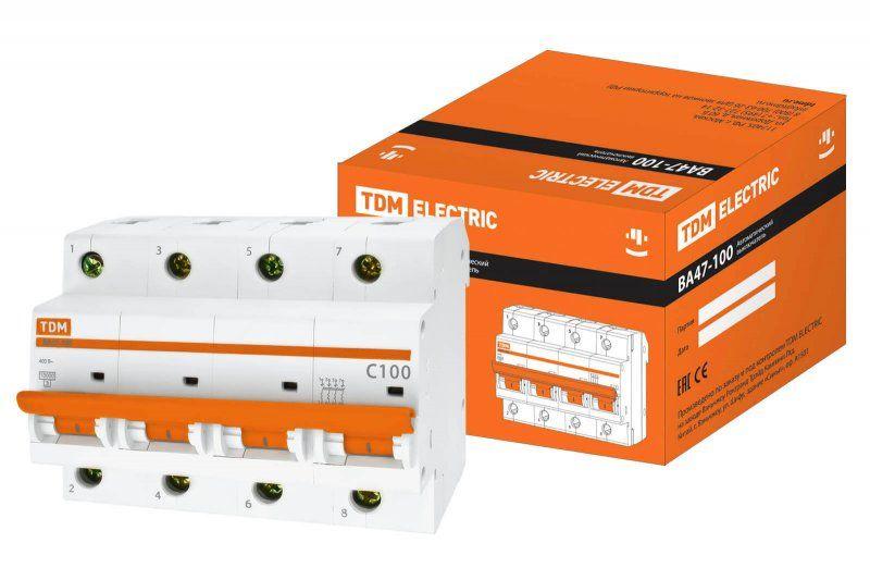 Автоматический выключатель TDM ВА47-100 SQ0207-0044
