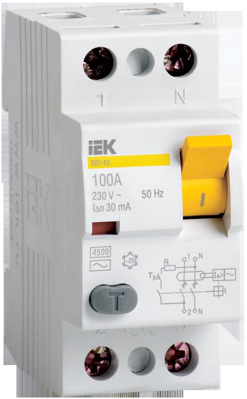Устройство защитного выключения IEK MDV12-4-040-100
