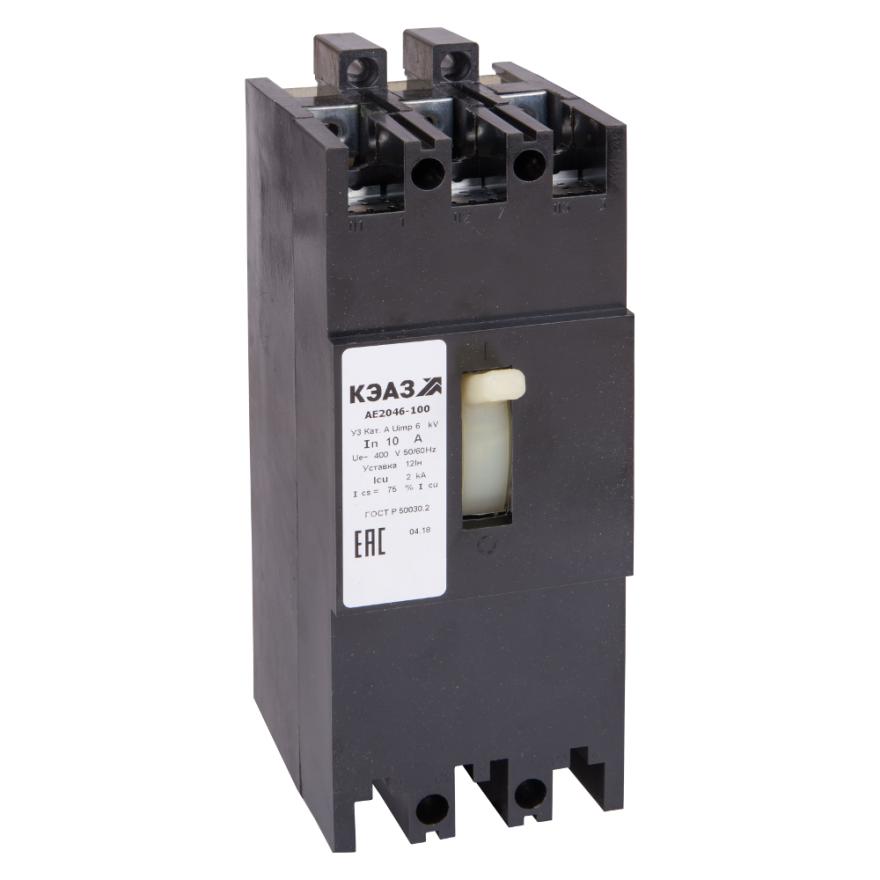 Автоматический выключатель КЭАЗ АЕ2046-100 АЕ2046-100-50А-12In -400AC-У3