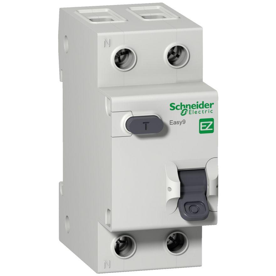 Schneider EASY 9 диф. автомат АВДТ 1P+N 32А/30mA хар-ка C, УЗО типа AC, электрон. 4,5кА EZ9D34632