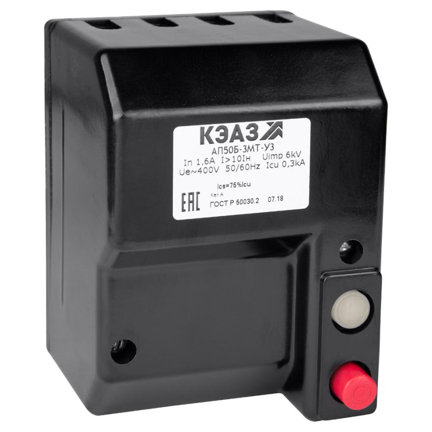 Автоматический выключатель КЭАЗ АП-50Б-3МТ АП50Б-3МТ-10A КЭАЗ