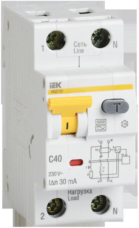 Автоматический выключатель дифференциального тока IEK MAD22-5-016-B-10