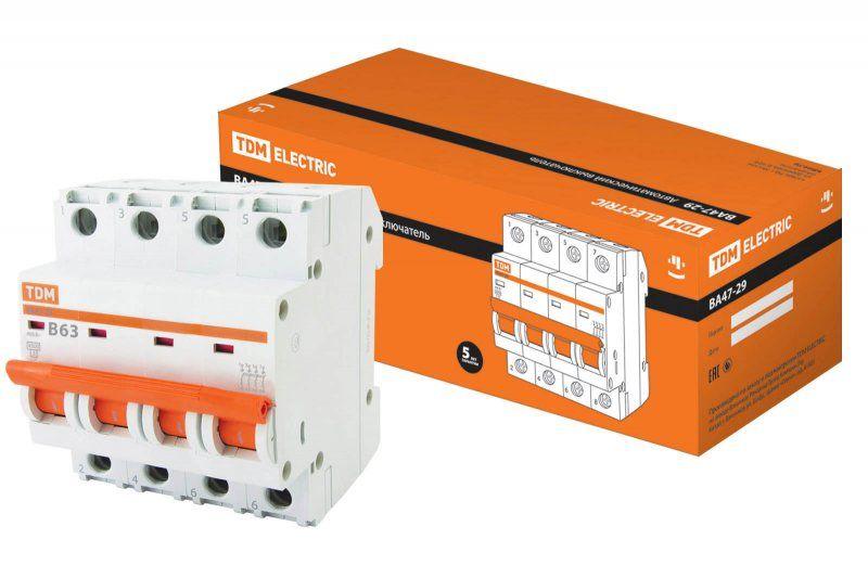 Автоматический выключатель TDM ВА47-29 SQ0206-0130
