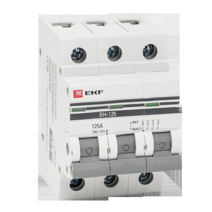 EKF Выключатель нагрузки ВН-125, 3P 100А EKF PROxima