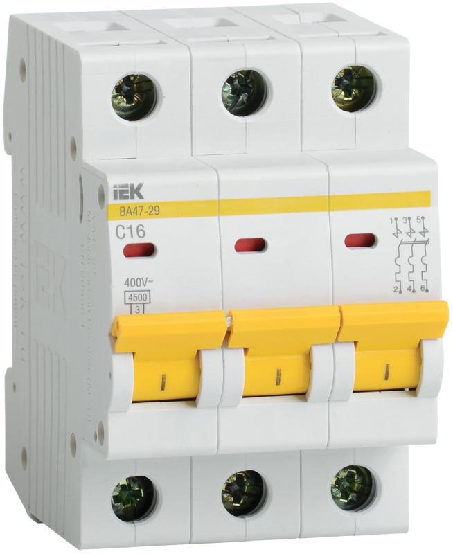 Автоматический выключатель IEK MVA20-3-063-C
