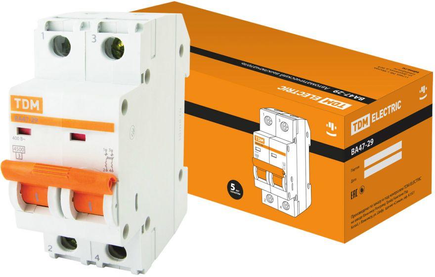 Автоматический выключатель TDM ВА47-29 SQ0206-0091